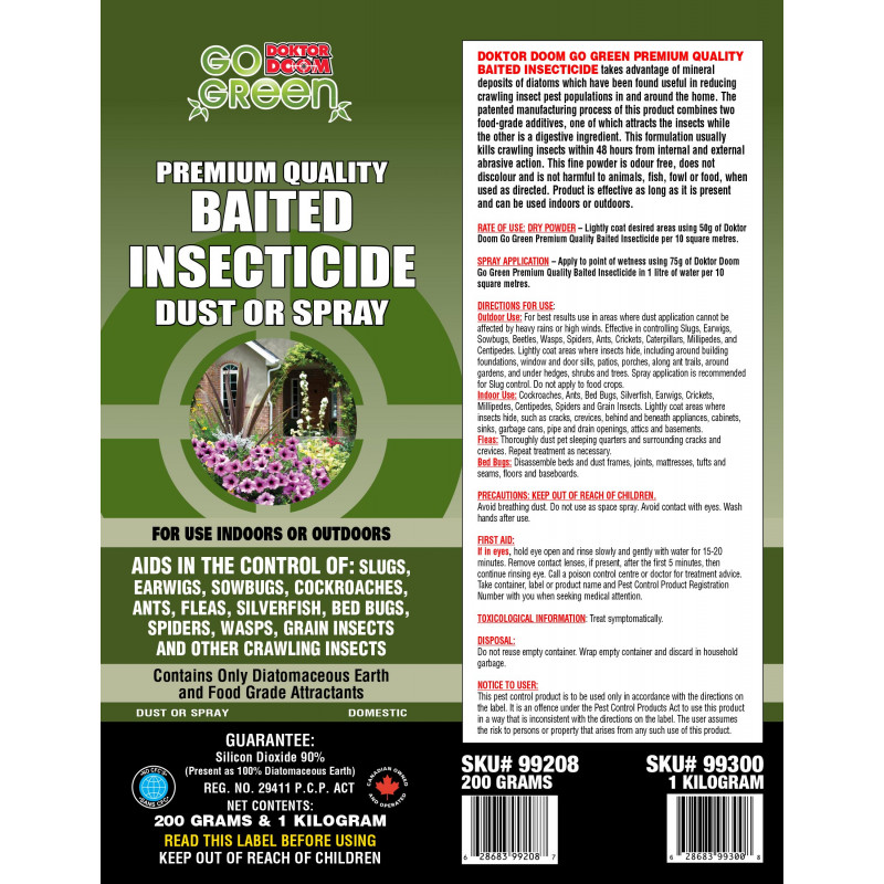 Doktor Doom Go Green Baited Insecticide Dust Or Spray